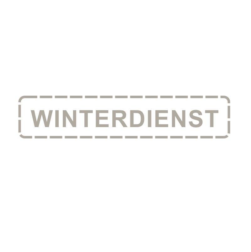 Winterdienst Aufkleber