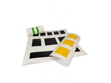 Folienzuschnitt als Quadrat oder Streifen